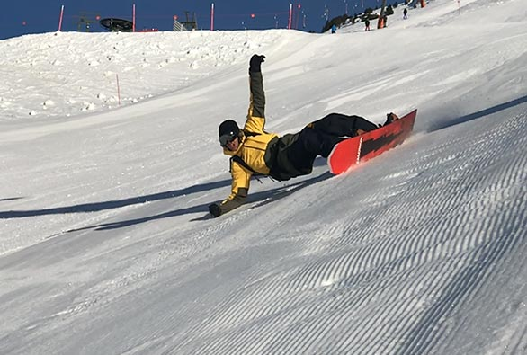 Snowboard in Baqueira - Landing Snowbaord